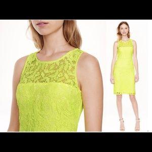 J.crew Collection Yellow Lace Sheath Dress 0